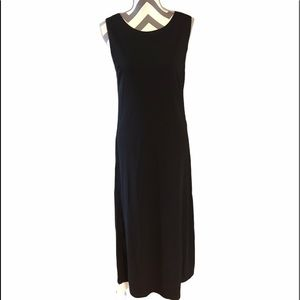 Liz Claiborne MEDIUM Black Sleeveless Maxi Dress